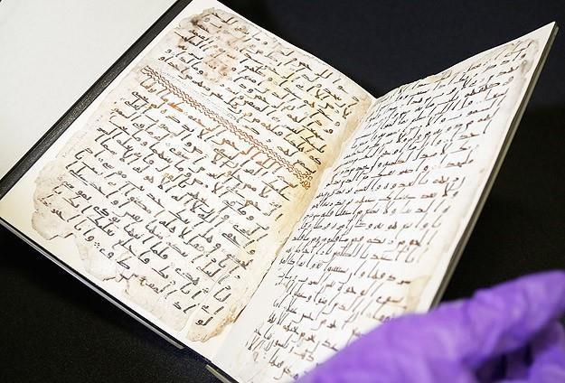 نمایش قرآن قدیمی تازه کشفشده در دانشگاه انگلیس
