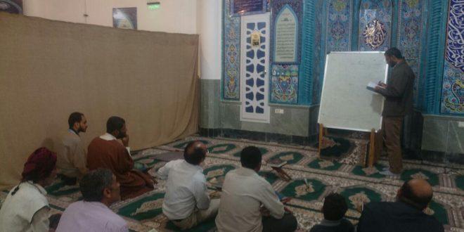 کلاس آموزش روخوانی و روانخوانی در مسجد حضرت ابالفضل العباس(ع) قشم برگزار شد
