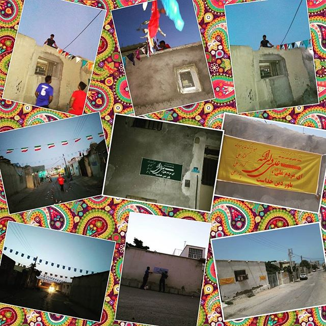 گزارش تصویری:  آذین بندی شهر توسط مردم قشم در آستانه جشن بزرگ عید غدیر خم