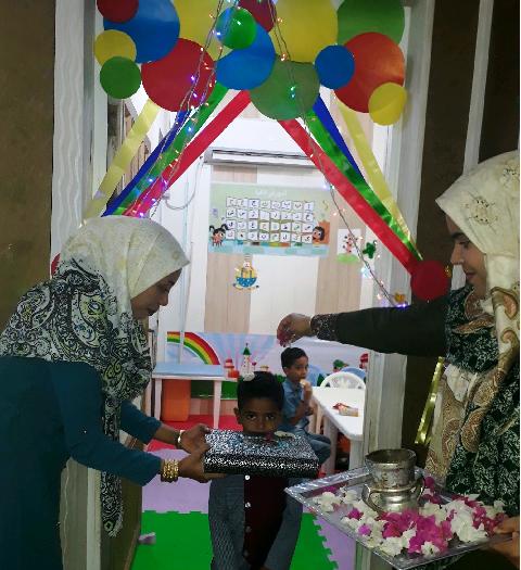همزمان با آغاز سال تحصیلی جدید صورت گرفت؛ برگزاری جشن بازگشایی مهد کودک مبین قشم+تصاویر