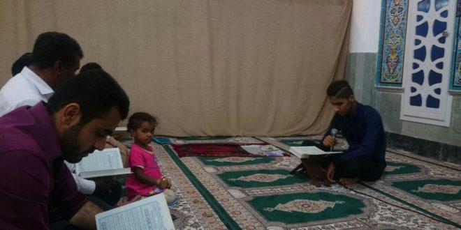محفل انس با قرآن با تلاوت قاری نوجوان در قشم برگزار شد