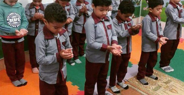 آموزش نماز ویژه قرآن آموزان مهد مبین قشم